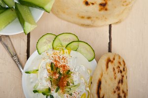Khyar Bi Laban Arab cucumber goat yogurt salad 010.jpg