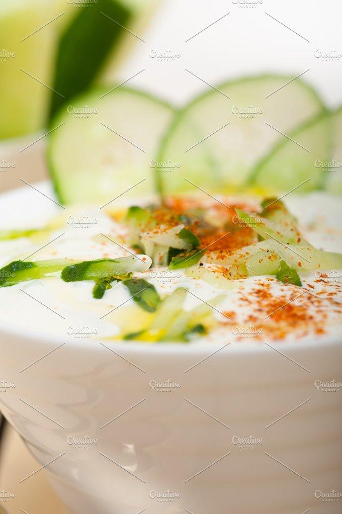 Khyar Bi Laban Arab cucumber goat yogurt salad 008.jpg - Food & Drink
