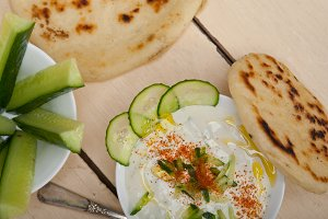 Khyar Bi Laban Arab cucumber goat yogurt salad 011.jpg