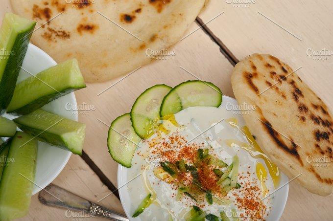 Khyar Bi Laban Arab cucumber goat yogurt salad 011.jpg - Food & Drink