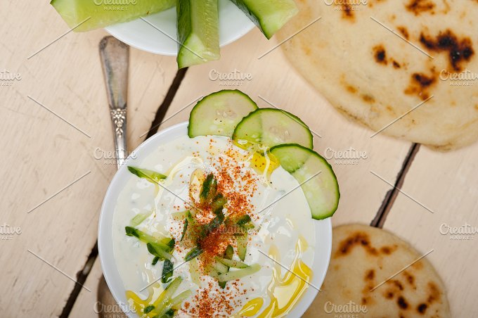 Khyar Bi Laban Arab cucumber goat yogurt salad 012.jpg - Food & Drink