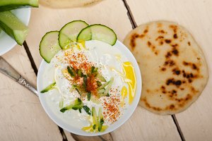 Khyar Bi Laban Arab cucumber goat yogurt salad 013.jpg