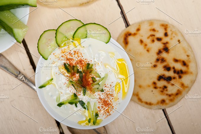 Khyar Bi Laban Arab cucumber goat yogurt salad 013.jpg - Food & Drink