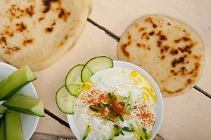 Khyar Bi Laban Arab cucumber goat yogurt salad 014.jpg