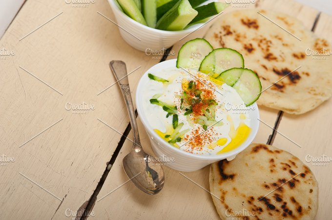 Khyar Bi Laban Arab cucumber goat yogurt salad 018.jpg - Food & Drink