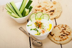 Khyar Bi Laban Arab cucumber goat yogurt salad 019.jpg