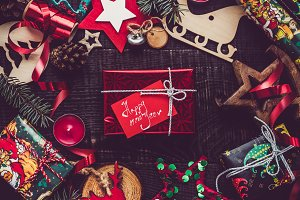 Greeting card. Merry Christmas and