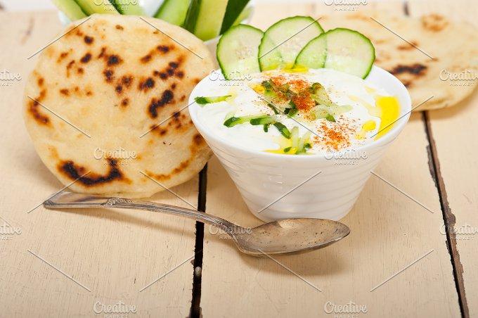 Khyar Bi Laban Arab cucumber goat yogurt salad 024.jpg - Food & Drink