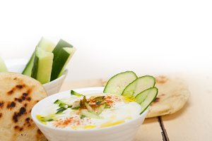 Khyar Bi Laban Arab cucumber goat yogurt salad 026.jpg