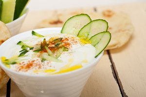 Khyar Bi Laban Arab cucumber goat yogurt salad 027.jpg