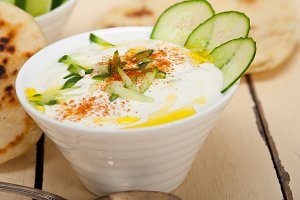 Khyar Bi Laban Arab cucumber goat yogurt salad 028.jpg