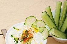 Maast o Khiar Arab cucumber goat yogurt salad 004.jpg