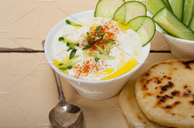 Maast o Khiar Arab cucumber goat yogurt salad 008.jpg - Food & Drink