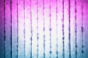 Vertical pink and blue spots on art