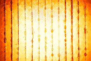 Vertical orange spots on art canvas