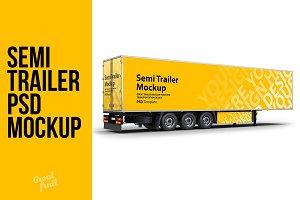 Semi Trailer Truck PSD Mockup