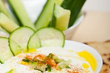 Maast o Khiar Arab cucumber goat yogurt salad 019.jpg