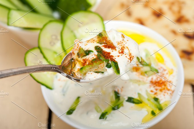 Maast o Khiar Arab cucumber goat yogurt salad 027.jpg - Food & Drink