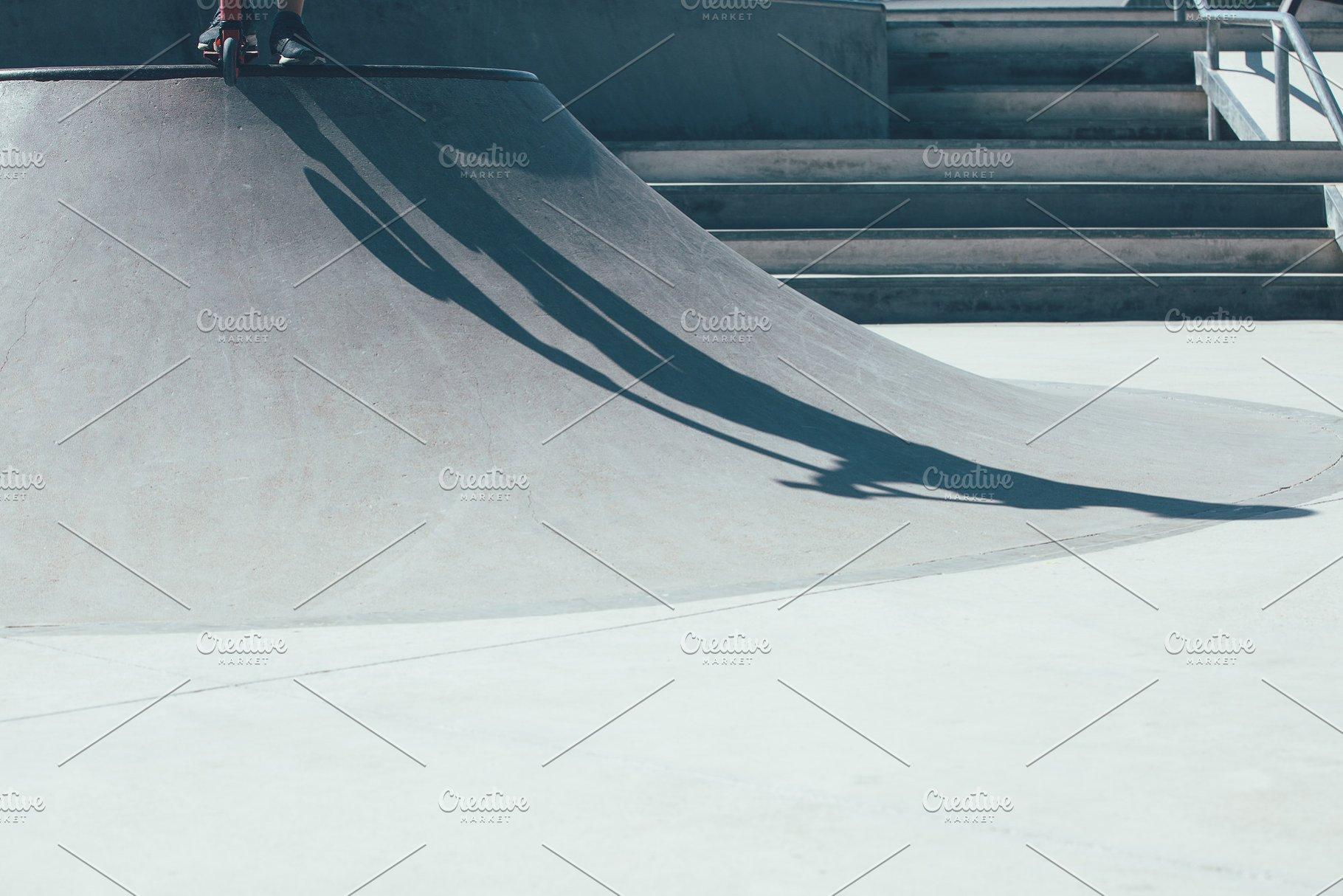 Skate park ramp detail view