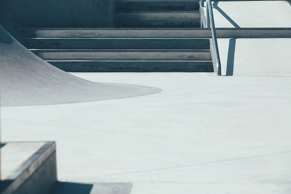 Architecture Stock Photos: Click and Photo - Skate park part in close up