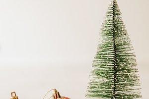 christmas tree and decorative balls