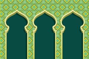 islam arch/raya vector