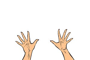woman hands fingers high five