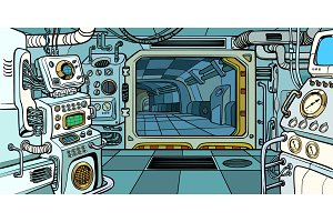 Cabin of the spacecraft