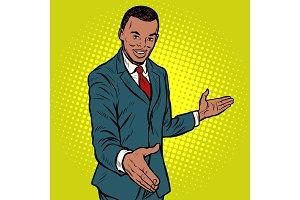African businessman shaking hands