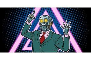 Cyberpunk 80s style. emotional