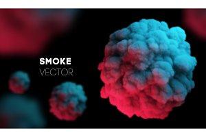 Light colorful smoke. Vector