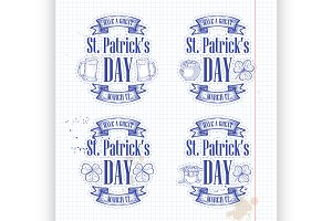 Stickers set for Saint Patricks Day