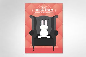 rabbit/armchair template vector