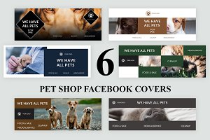 Pet Shop Facebook Covers - SK