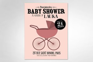 baby girl/ baby shower template
