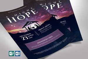 Hope Christmas Flyer Word Publisher