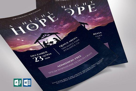 hope christmas flyer word publisher flyer templates creative market