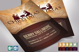 Christmas Story Flyer Word Publisher