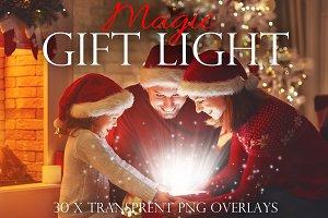 Christmas gift light overlays