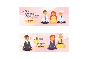 Meditation people of all ages and