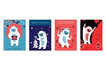 Yeti bigfoot characters cards for