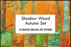 Autumn Shadow Wood Art Papers