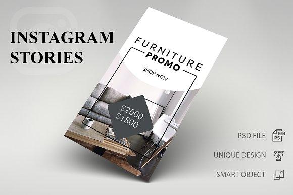 Instagram Stories - Furniture - SK ~ Instagram Templates ~ Creative ... 892cb6aa6d5