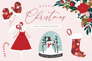 Merry Christmas Illustration Pack