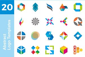 20 Logo Abstract Templates Bundle