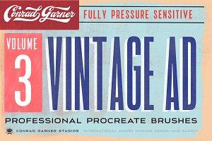 81 VINTAGE AD Brushes - Procreate