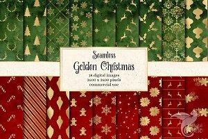 Golden Christmas Digital Paper