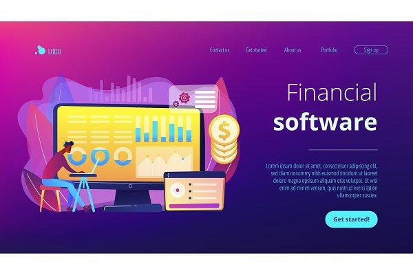 Financial data management concept