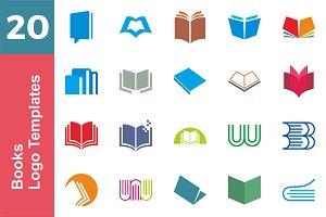 20 Logo Books Templates Bundle