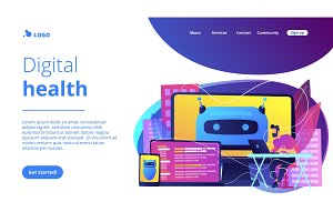 Digital wellbeing concept landing